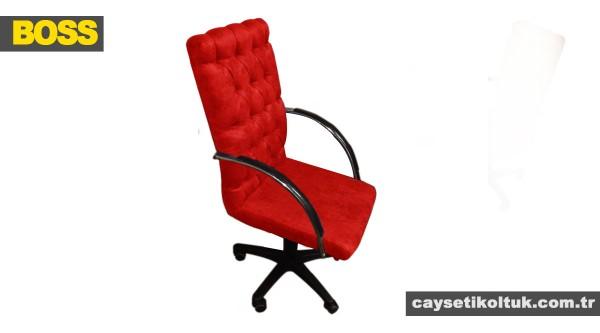 Boss Chester Makam yönetici koltuğu Kırmızı