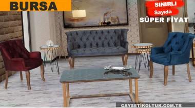 Bursa Çay Seti Koltuk Cafe Berjer Seti