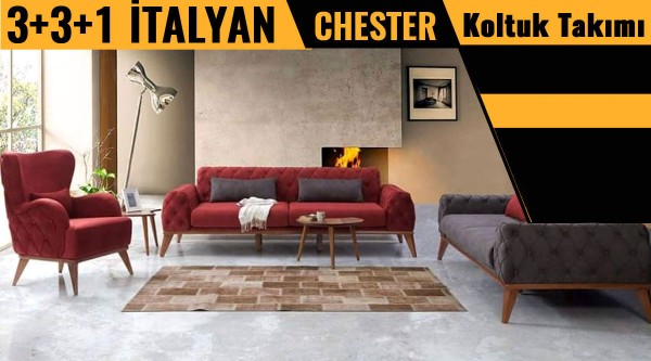 Happy İtalyan Chester koltuk takımı